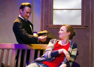 Jason Paul Evans and Jennifer Ruckman in SAMSARA at The Chance Theater.
