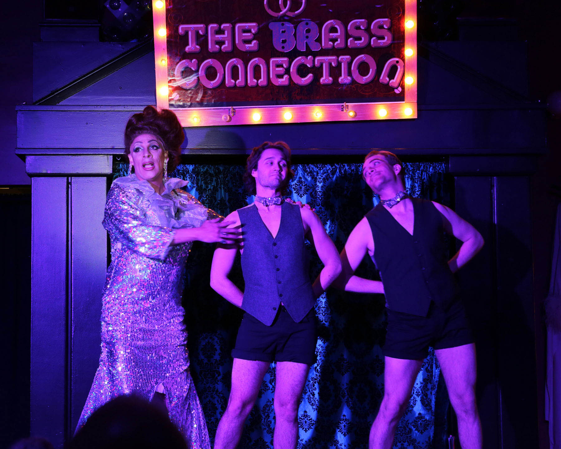 theater review miracle hell in a handbag productions at mary s crystal pain takes the stage david cerda as drag diva crystal pain performs