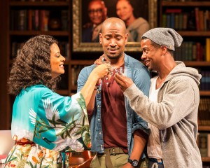 "Cynda Williams, Bryan Terrell Clark and Kamal Angelo Bolden in Paul Oakley Stovall's ""Immediate Family,"" directed by Phylicia Rashad."