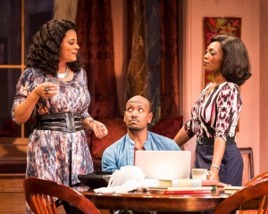 "Cynda Williams, Bryan Terrell Clark and Shanésia Davis in Paul Oakley Stovall's ""Immediate Family,"" directed by Phylicia Rashad."