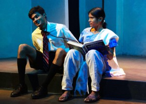 Ray Parikh and Anisha Adusumilli in SAMSARA at The Chance Theater.