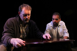 Tim Cummings, Cesar Ramos in Coeurage Theatre Company's production of THE WOODSMAN