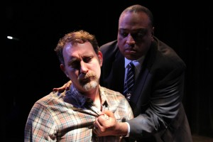 Tim Cummings, Gregor Manns in Coeurage Theatre Company's production of THE WOODSMAN.