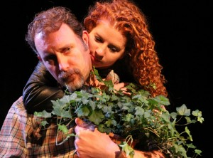 Tim Cummings, Joey Nicole Thomas in Coeurage Theatre Company's production of THE WOODSMAN.