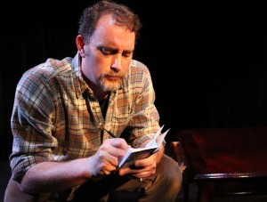 Tim Cummings in Coeurage Theatre Company's production of THE WOODSMAN.