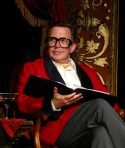 Brandon Clark as Thurston Eberhard Hillsboro-Smythe in Magnum Opus Theatre.