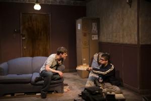 Curtis Edward Jackson, Brandon Rivera (l to r) in Brilliant Adventures at Steep Theatre.