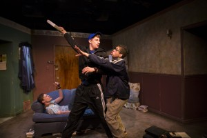 Curtis Edward Jackson, Ryan McBride, Brandon Rivera (l to r) in Brilliant Adventures at Steep Theatre
