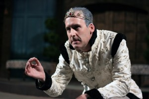 Kevin McKillip as Leontes stars in First Folio Theatre's production of The Winter's Tale.