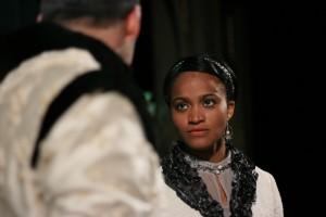 Diana Coates as Paulina stars in First Folio Theatre's production of The Winter's Tale.