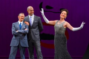 Don Bridges, Martin Grimwood, and Denise Wharmby perform in Call Me Miss Birds Eye - A Celebration of Ethel Merman at A.C.T.'s Geary Theater July 8 – 19.