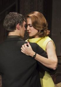 Jason Downs and Lesley Fera in Pacific Resident Theatre's THE HOMECOMING.