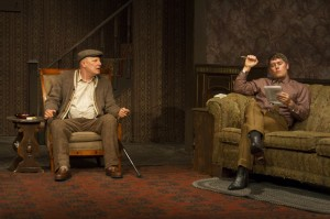 Jude Ciccolella and Jason Downs in Pacific Resident Theatre's THE HOMECOMING.