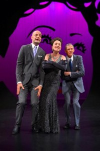 Martin Grimwood, Denise Wharmby and Don Bridges perform in Call Me Miss Birds Eye - A Celebration of Ethel Merman at A.C.T.'s Geary Theater July 8 – 19.