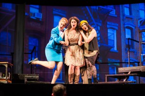 April (Morgan Dayley), Kathy (Michelle Drexler), and Marta (Teresa Attridge) implore Robert to settle down.