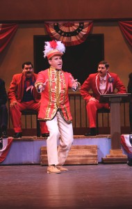 David Engel and the Company in Moonlight's THE MUSIC MAN. Photo by Ken Jacques.