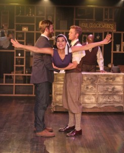 Denver Milord, Nicole Shalhoub, & Brandon Ruiter in Coeurage Theatre Company's FAILURE - A LOVE STORY. Photo by John Klopping.