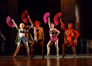 Jane Papageorge, Megan Sikora, Robin Masella, and Shina Ann Morris in the Hartford Stage-Old Globe co-production of KISS ME, KATE.