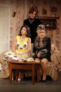 KIM MARESCA, PETER LAND and RITA McKENZIE in RUTHLESS! at St. Luke's Theatre. Photo by Carol Rosegg.