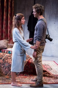 Alia Attallah and Quinn Franzen in THREESOME, part of the 5A Season  at 59E59 Theaters. Photo by Hunter Canning