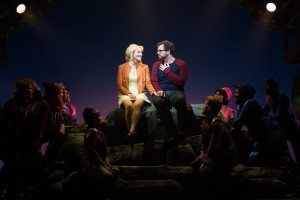 Betsy Wolfe, Matt Bittner and the cast of La Jolla Playhouse's world-premiere musical UP HERE