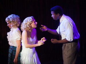 Colleen Fee, Britt-Marie Sivertsen and Evan Tyrone Martin in Porchlight Music Theatre's SIDE SHOW. Photo by Anthony Robert Lapenna.