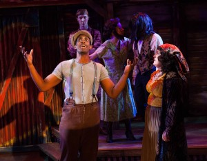 Evan Tyrone Martin and Veronica Garza in Porchlight Music Theatre's SIDE SHOW. Photo by Anthony Robert Lapenna.