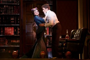Adrienne Eller and Kevin Massey in A GENTLEMAN'S GUIDE TO LOVE AND MURDER National Tour. Photo by Joan Marcus.