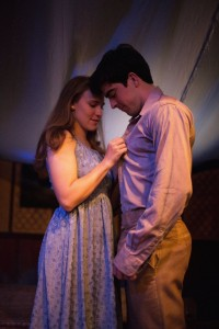 Brendan Connelly and McKenna Liesman as Romeo and Juliet in R + J THE VINEYARD. Photo by Joe Mazza, Brave Lux.