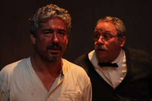 Darrett Sanders and Carl J. Johnson star in the Theatre of NOTE World premiere production of THE WHISKEY MAIDEN, written and directed by Chris Kelley and now playing at Theatre of NOTE in Hollywood.