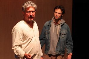 Darrett Sanders and Joe Mahon star in the Theatre of NOTE World premiere production of THE WHISKEY MAIDEN, written and directed by Chris Kelley and now playing at Theatre of NOTE in Hollywood.