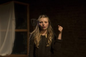 Genevieve Hulme-Beaman in PONDLING, produced by Gúna Nua Theatre Company & Ramblinman for Origin Theatre Co's 1st Irish Theatre Festival at 59E59 Theaters-photo by Paul McCarthy.