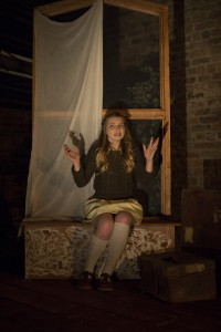 Genevieve Hulme-Beaman in PONDLING, produced by Gúna Nua Theatre Company and Ramblinman for Origin Theatre Co's 1st Irish Theatre Festival at 59E59 Theaters-photo by Paul McCarthy.