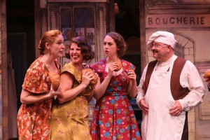 """Greyson Chadwick, Lindsey Schuberth, Rachel Hirshee and Greg Baldwin star in the ACTORS CO-OP Production of the Stephen Schwartz musical, """"THE BAKER'S WIFE"""" - Directed by Richard Israel and now playing at the ACTORS CO-OP David Schall Theatre."""