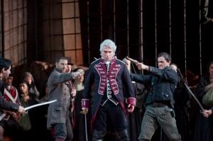Dmitri Hvorostovsky as Count di Luna in Verdi?s ?Il Trovatore.?Photo: Ken Howard/Metropolitan Opera  Taken during the final dress rehearsal on Febraury 13, 2009 at the Metropolitan Opera in New York City.