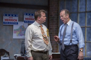 Joe Foust and Joe Dempsey in The (curious case of the) Watson Intelligence at Theater Wit - photo by Charles Osgood.