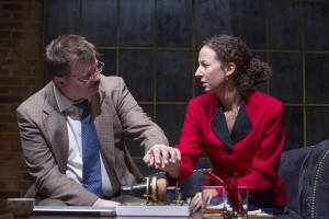 Joe Foust and Kristina Valada-Viars in The (curious case of the) Watson Intelligence at Theater Wit. Photo by Charles Osgood.