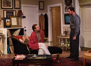 Mendy (JP Pierson) and Stephen (Joe McCauley) bicker in Eclipse Theatre's THE LISBON TRAVIATA. Photo by Scott Dray.
