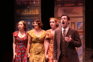 """Rachel Hirshee, Lindsey Schuberth, Greyson Chadwick and Christopher Maikish star in the ACTORS CO-OP Production of the Stephen Schwartz musical, """"THE BAKER'S WIFE"""" - Directed by Richard Israel and now playing at the ACTORS CO-OP David Schall Theatre."""