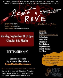 Post image for Los Angeles Theater Review: RANT & RAVE CHAPTER 62: MEDIA (Rogue Machine Theatre)