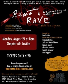 Post image for Los Angeles Theater Review: RANT & RAVE CHAPTER 61: JUSTICE (Rogue Machine Theatre)