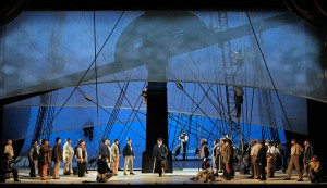 A scene from San Francisco Opera performance of MOBY-DICK. Photo by Cory Weaver