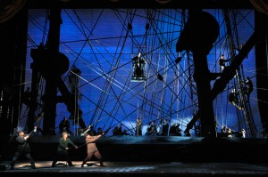 A scene from a San Francisco Opera performance of MOBY-DICK. Photo by Cory Weaver