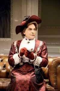 David Suchet as Lady Bracknell in NTL's THE IMPORTANCE OF BEING EARNEST. Photo by Nobby Clark.