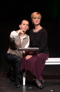 Jake Novak and Barbara Carlton Heart in SONDHEIM ON SONDHEIM at ITC. Photo by Suzanne Mapes.