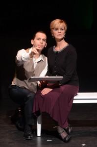 Jake Novak and Barbara Carlton Heart in SONDHEIM ON SONDHEIM at ITC. Photo by Suzanne Mapes.