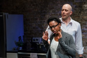 Kanome Jones as Gaby & Vance Smith as Patrick in The Firestorm by Meridith Friedman. Photo by Ian McLaren.