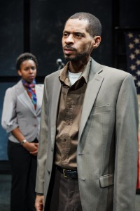 Kanome Jones as Gaby and David Lawrence Hamilton as Jamal in The Firestorm by Meridith Friedman. Photo by Ian McLaren.
