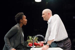 Kanome Jones as Gaby and Vance Smith as Patrick in The Firestorm by Meridith Friedman. Photo by Ian McLaren.