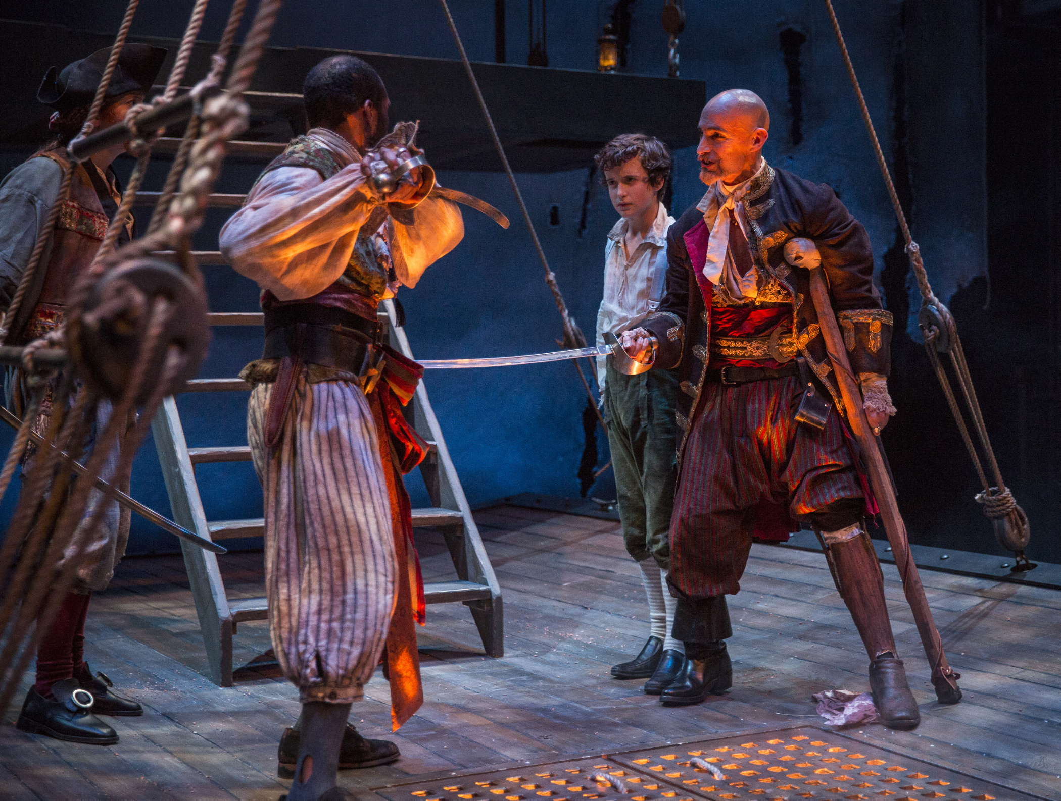theater review treasure island lookingglass in chicago  kasey foster travis delgado john babbo lawrence e distaci